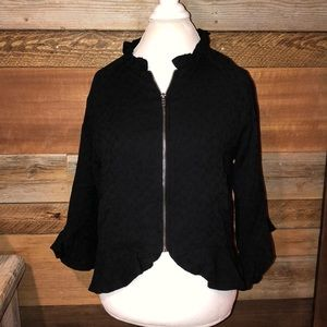 Cupcakes and Cashmere Black Franklin Knit Jacket M